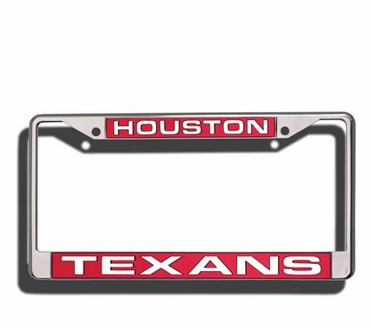 Houston Texans Laser Etched Chrome License Plate Frame