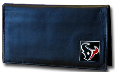 Houston Texans Leather Checkbook Cover (F)