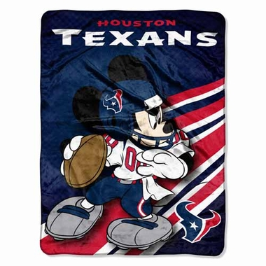 Houston Texans Mickey Mouse Microfiber Throw