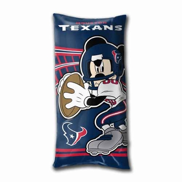 Houston Texans Mickey Mouse YOUTH Body Pillow
