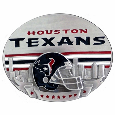 Houston Texans Enameled Belt Buckle