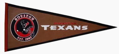 Houston Texans Pigskin Pennant