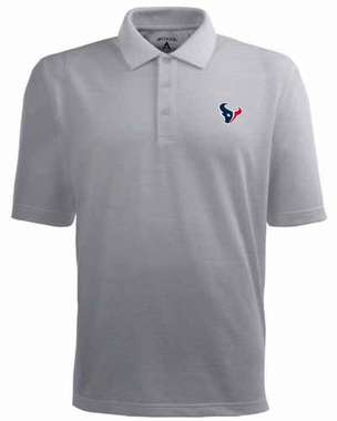 Houston Texans Mens Pique Xtra Lite Polo Shirt (Color: Gray)