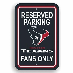 Houston Texans Plastic Reserved Parking Sign (P)