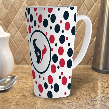 Houston Texans Polkadot 16 oz. Ceramic Latte Mug