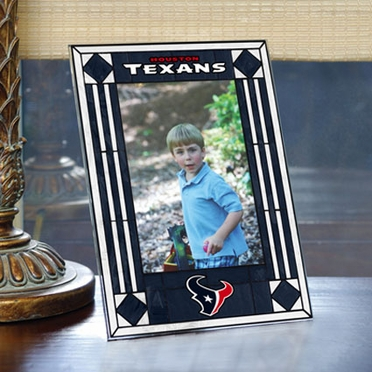 Houston Texans Portrait Art Glass Picture Frame