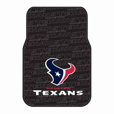 Houston Texans Set of Rubber Floor Mats