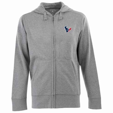 Houston Texans Mens Signature Full Zip Hooded Sweatshirt (Color: Gray)