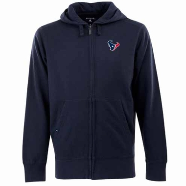 Houston Texans Mens Signature Full Zip Hooded Sweatshirt (Team Color: Navy)