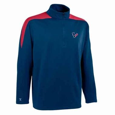 Houston Texans Mens Succeed 1/4 Zip Performance Pullover (Team Color: Navy)