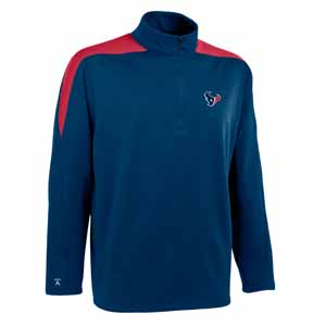 Houston Texans Mens Succeed 1/4 Zip Performance Pullover (Team Color: Navy) - Large