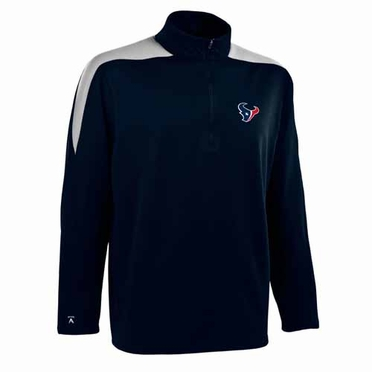 Houston Texans Mens Succeed 1/4 Zip Performance Pullover (Color: Smoke)