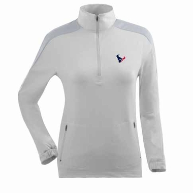 Houston Texans Womens Succeed 1/4 Zip Performance Pullover (Color: White)