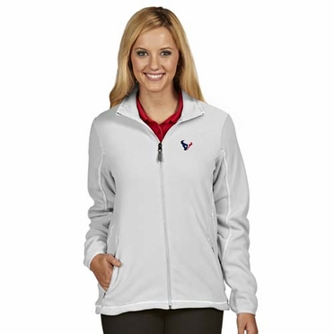 Houston Texans Womens Ice Polar Fleece Jacket (Color: White)