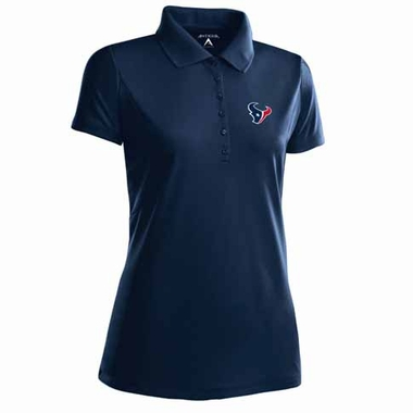 Houston Texans Womens Pique Xtra Lite Polo Shirt (Color: Navy)