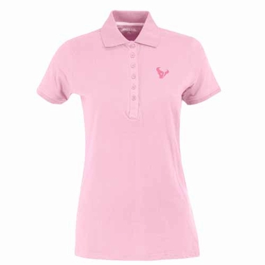 Houston Texans Womens Spark Polo (Color: Pink)