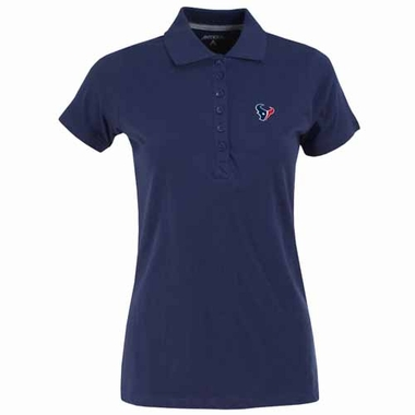 Houston Texans Womens Spark Polo (Team Color: Navy)