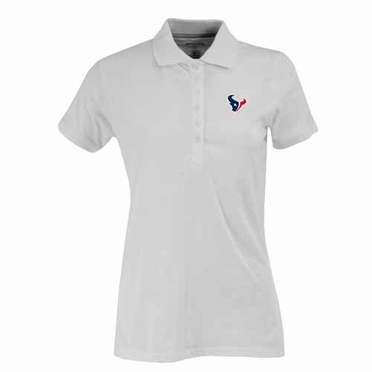 Houston Texans Womens Spark Polo (Color: White)