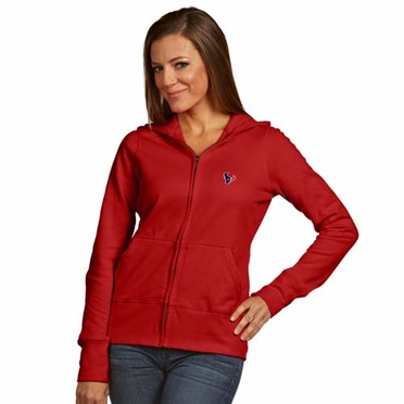 Houston Texans Womens Zip Front Hoody Sweatshirt (Alternate Color: Red)