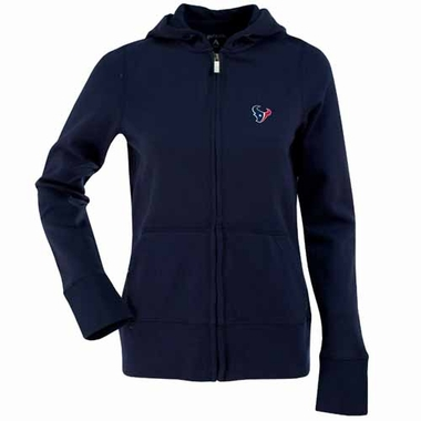 Houston Texans Womens Zip Front Hoody Sweatshirt (Team Color: Navy)
