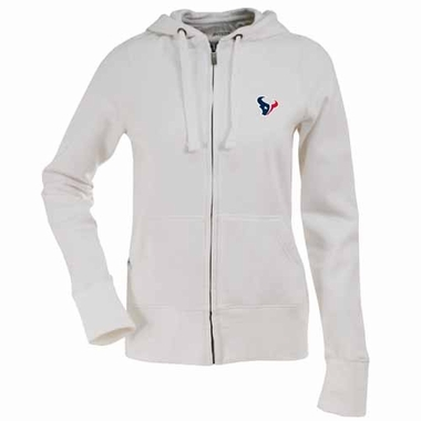 Houston Texans Womens Zip Front Hoody Sweatshirt (Color: White)
