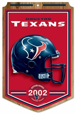 Houston Texans Wood Sign