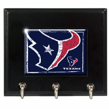 Houston Texans Wooden Keyhook Rack