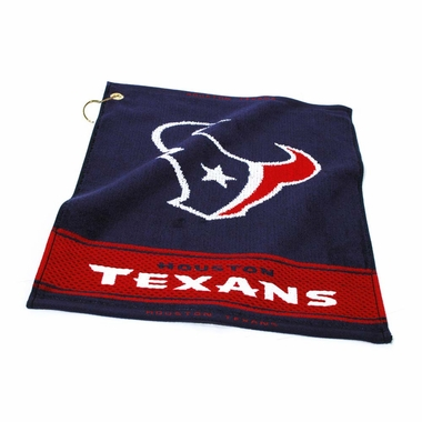 Houston Texans Woven Golf Towel