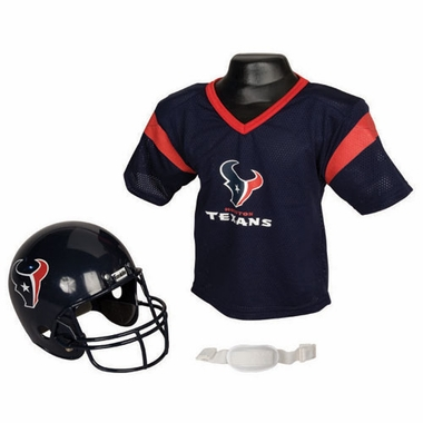 Houston Texans Youth Helmet and Jersey Set