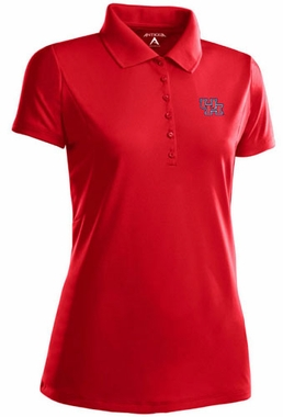 Houston Womens Pique Xtra Lite Polo Shirt (Team Color: Red)