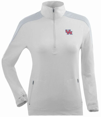 Houston Womens Succeed 1/4 Zip Performance Pullover (Color: White)