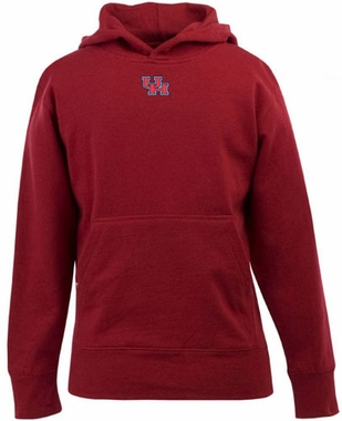 Houston YOUTH Boys Signature Hooded Sweatshirt (Color: Red)