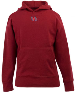 Houston YOUTH Boys Signature Hooded Sweatshirt (Color: Red) - Medium