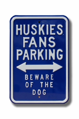 Huskies/Beware/Dog Parking Sign