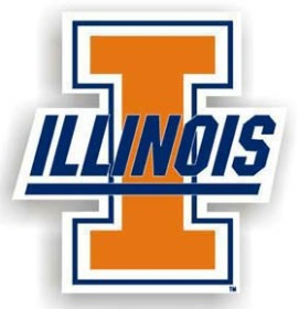 "Illinois Fighting Illini 12"" Car Magnet"
