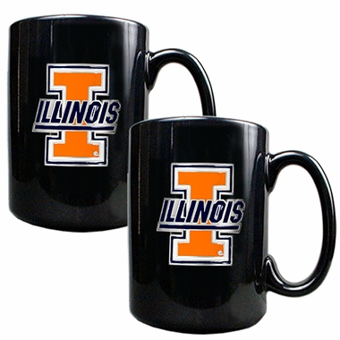 Illinois 2 Piece Coffee Mug Set