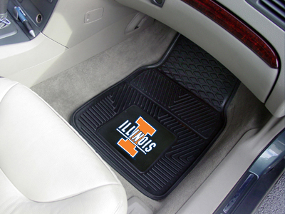 Illinois 2 Piece Heavy Duty Vinyl Car Mats
