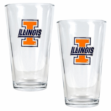 Illinois 2 Piece Pint Glass Set
