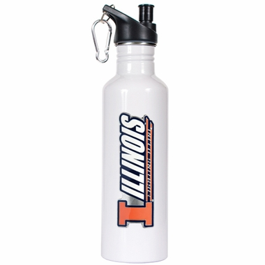 Illinois 26oz Stainless Steel Water Bottle (White)