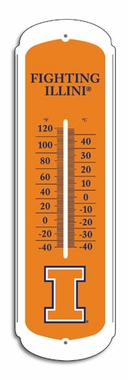 Illinois 27 Inch Outdoor Thermometer (P)