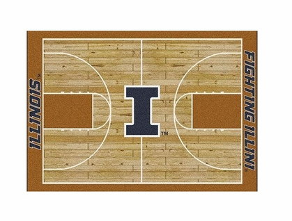 "Illinois 3'10"" x 5'4"" Premium Court Rug"