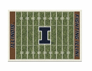 "Illinois 3'10"" x 5'4"" Premium Field Rug"
