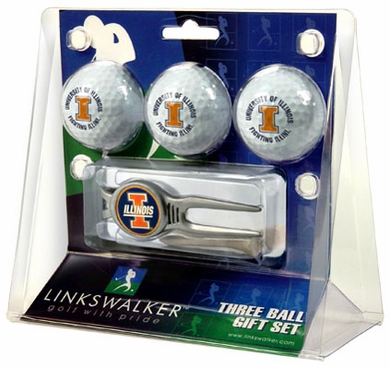 Illinois 3 Ball Gift Pack With Kool Tool