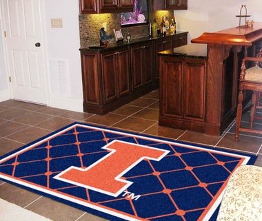 Illinois 5 Foot x 8 Foot Rug