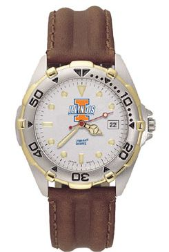 Illinois All Star Mens (Leather Band) Watch