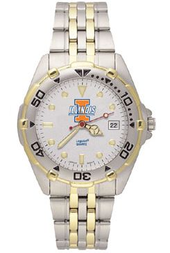 Illinois All Star Mens (Steel Band) Watch