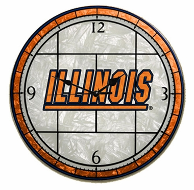 Illinois Art Glass Clock