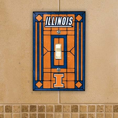 Illinois Art Glass Lightswitch Cover