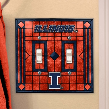 Illinois Art Glass Lightswitch Cover (Double)