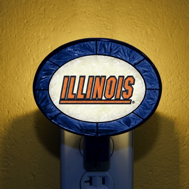 Illinois Art Glass Night Light